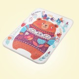 Baby Diapers Mattress Changing Pads Covers Breathable Diapers for Newborns Cartoon Pattern Waterproof Changing Mat 30*45cm (big bear)