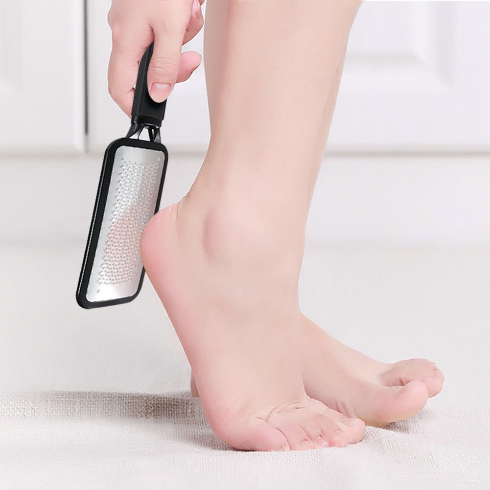 Stainless Steel Foot Pedicure Callus Remover Hard Dead Skin Scrubber