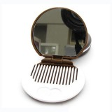Makeup Tool Pocket Mirror Makeup Mirror Mini Dark Brown Cute Chocolate Cookie Shaped (Random Color) (Random Color)