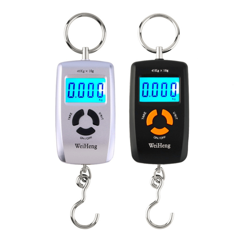 45kg x 10g High Precision LCD Portable Digital Backlight Electronic Portable Scale (Random Color)