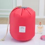 Large-capacity Cosmetic Bag Travel Suit Wash Bag Outdoor Waterproof Storage Bag Cylinder Wash Bag (Red)