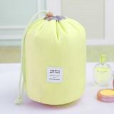 Large-capacity Cosmetic Bag Travel Suit Wash Bag Outdoor Waterproof Storage Bag Cylinder Wash Bag (Yellow)