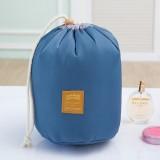 Large-capacity Cosmetic Bag Travel Suit Wash Bag Outdoor Waterproof Storage Bag Cylinder Wash Bag (Blue)
