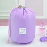 Large-capacity Cosmetic Bag Travel Suit Wash Bag Outdoor Waterproof Storage Bag Cylinder Wash Bag (Purple)