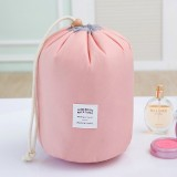 Large-capacity Cosmetic Bag Travel Suit Wash Bag Outdoor Waterproof Storage Bag Cylinder Wash Bag (Maca pink)
