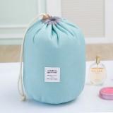Large-capacity Cosmetic Bag Travel Suit Wash Bag Outdoor Waterproof Storage Bag Cylinder Wash Bag (Maca blue)