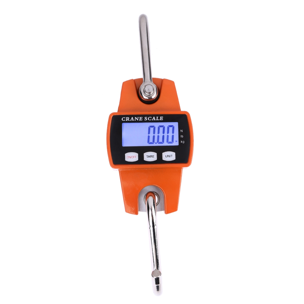 300kg x 100g Portable LCD Digital Stainless Steel Hook Mini Electronic Hook Scale