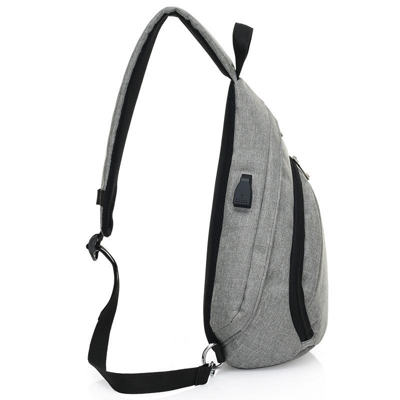 Xmund XD-DY21 8L USB Anti Theft Chest Bag Oxford Cloth Shoulder Bag Camping Travel Hiking Crossbody Bag