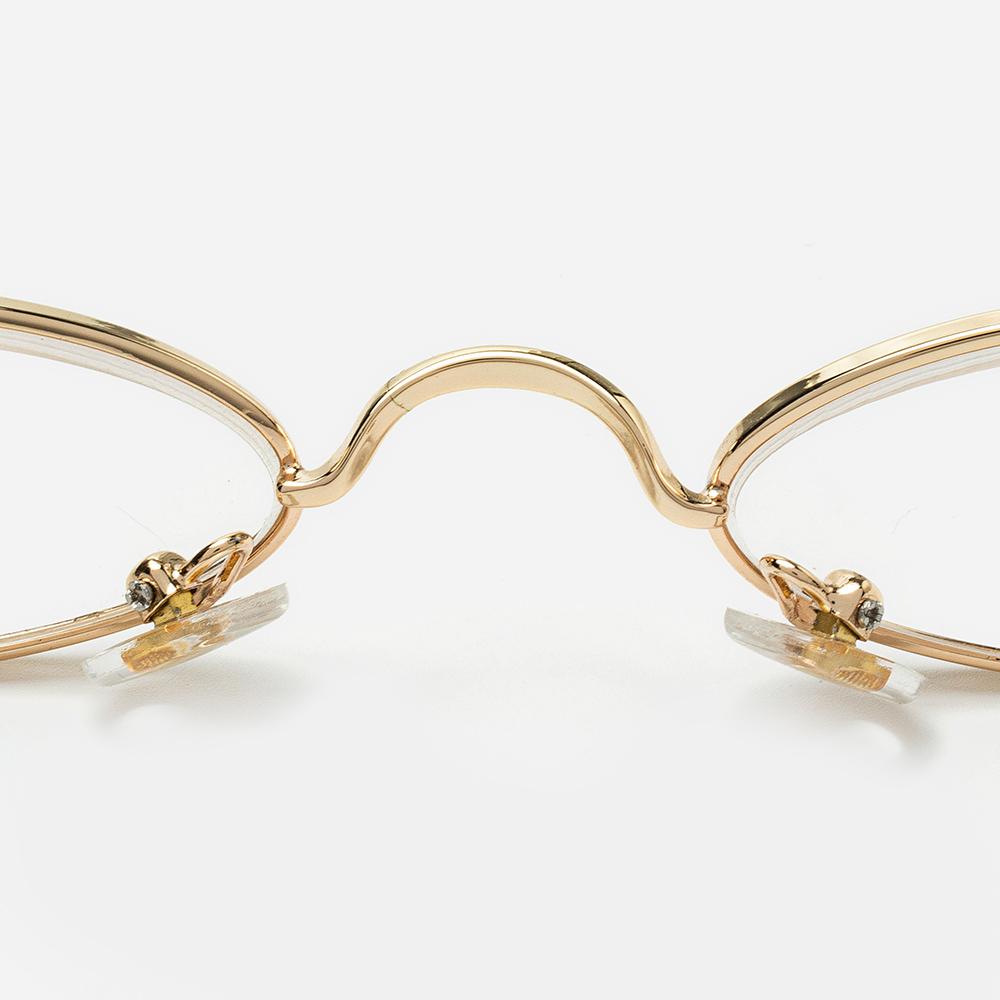 2 Color Flat Oval Thin Frame Arc Frame Reading Glasses