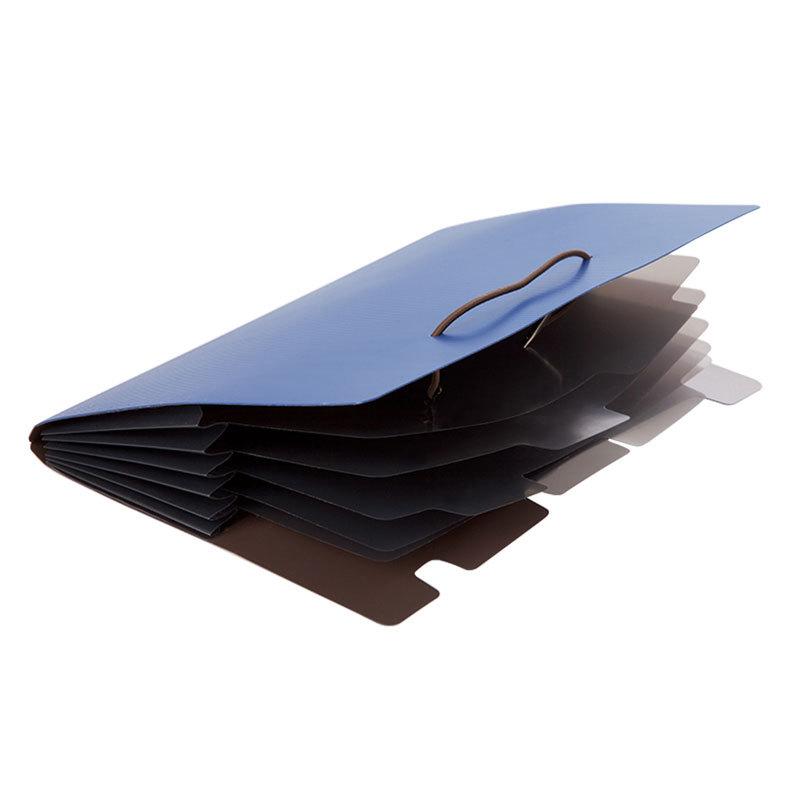Comix A7626 Expanding File Folder A5 Organ Bag 6 Pockets Desktop Organizer Paper Holder Document Folder School Supplies