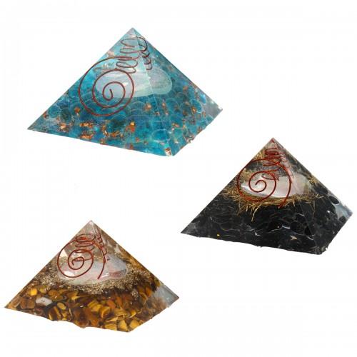 Natural Pyramid Crystals Gemstone Meditation Yoga Healing Energy Stone 70-75mm