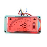 Multifunction Voltmeter Thermometer Speedometer for Electric Bicycle 48V- 72V