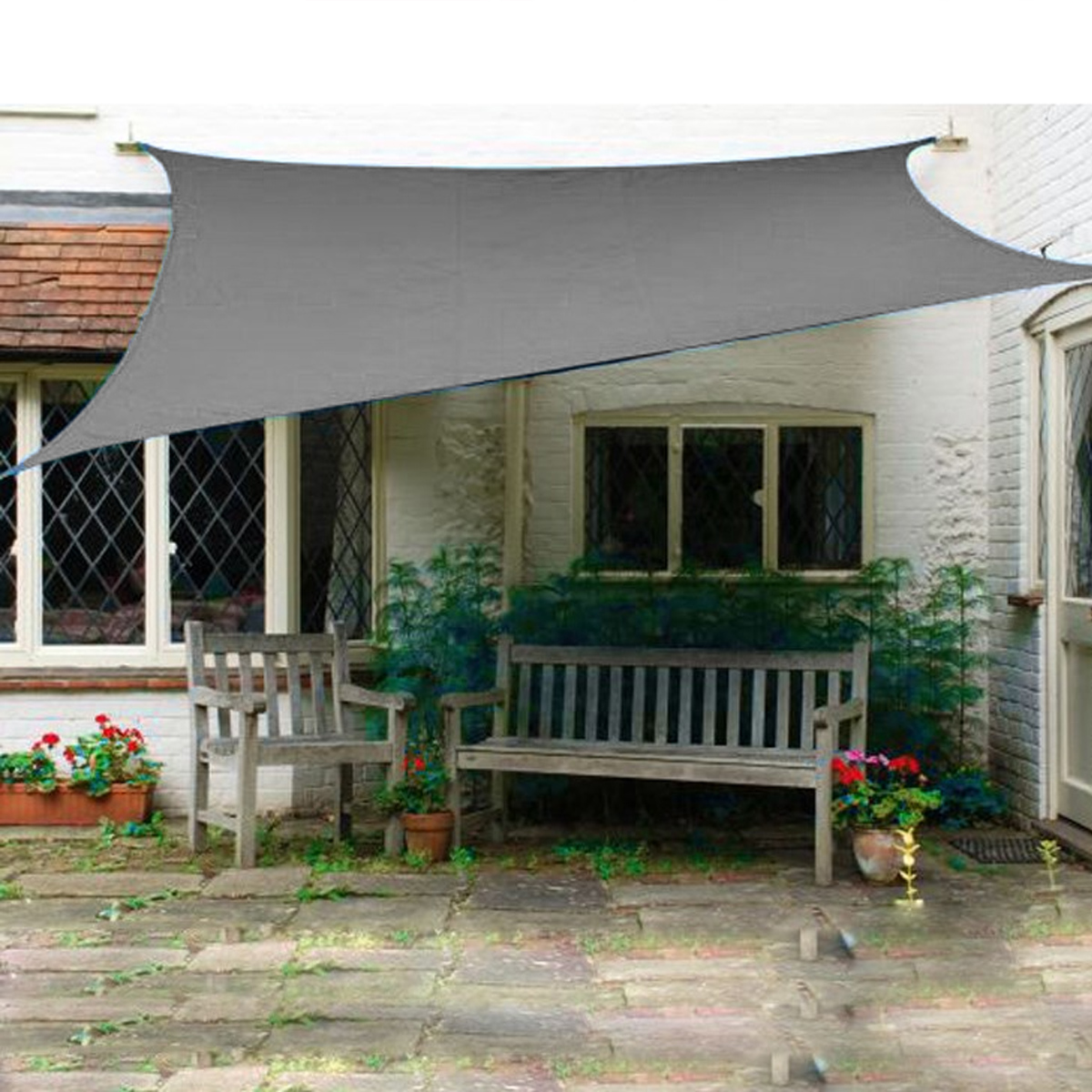 Tent Sunshade Sail Waterproof 420D Oxford Polyester Garden Canopy Cover Awning Outdoor Marine Yard Plant Protection
