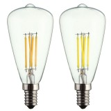 Kingso AC220V E14 4W LED Filament COB Light Bulb Edison Retro Vintage Lamp for Home Decor