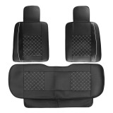 Universal Car SUV 5-Seats PU Leather Seat Cover Front Rear Cushion Rear Pillows
