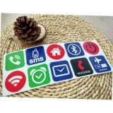 10pcs Ntag213 NFC Tag Card Stickers Label Rfid Tag Card Adhesive Key llaveros Token Patrol