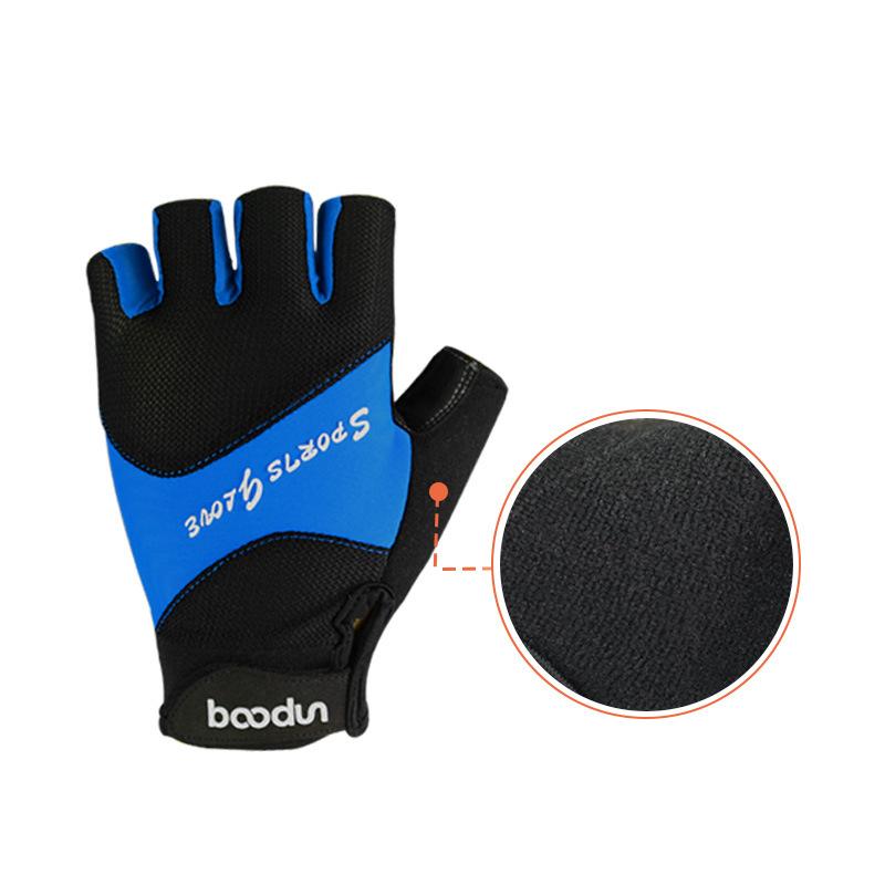 BOODUN Half-Finger Riding Glove Outdoor Motorcycle Riding Cycling Protective Finger Gloves