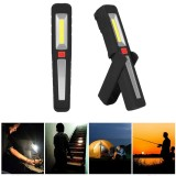 Portable COB LED USB Rechargeable Magnetic Work Light Hook Tent Camping Torch Flashlight