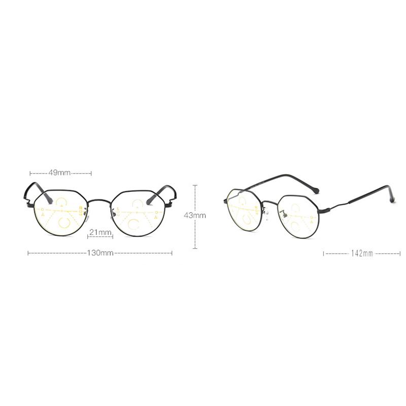 Unisex Retro Far Near Dual-use Reading Glasses Automatic Zoom HD Anti-fatigue Reading Glasses