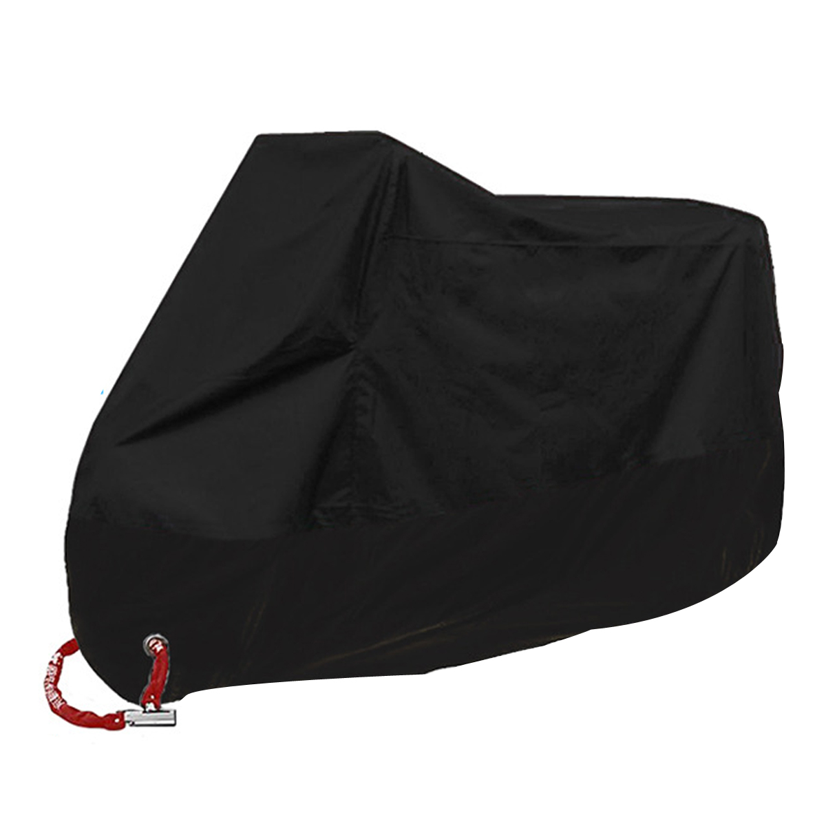 All Season Universal Waterproof Sun Protection Motorcycle Vehicle Cover Motorcycle Tarp Dustproof with Storge Bag 265X105X125cm Motorcycle Cover