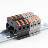 1Pcs SPL-1 PCT-211 Rail Type Quick Connector Press Type Connector Instead of UK2.5B 32A Terminal Block 0.08-4mm