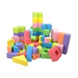 50Pcs Soft Lightweight EVA Foam Assembled Bricks DIY Model Creative Building Blocks Kids Educational Toys