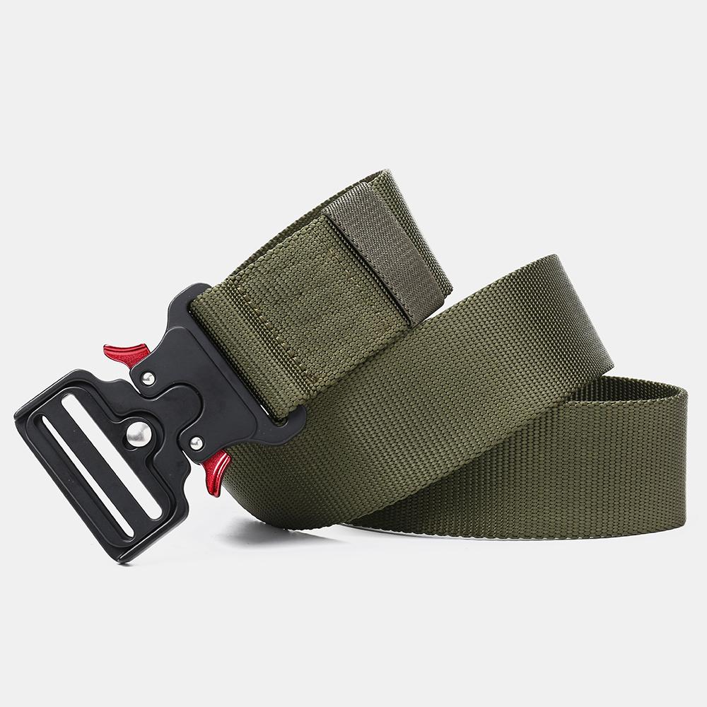 125cm 4.8cm Nylon Waist Leisure Belts Zinc Alloy Tactical Belt Quick Release Inserting Buckle