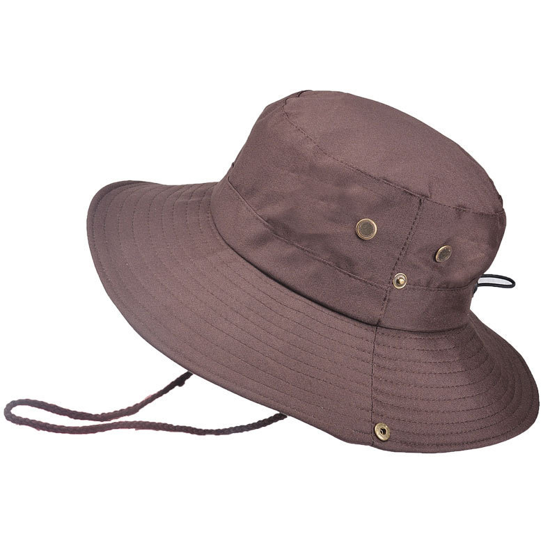 Tactical Cap Outdoor Fisherman Hat Folding Portable Bucket Hat Hiking Climbing Sun Protection Floppy Hat