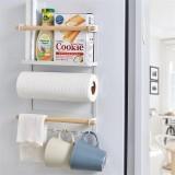 Magnetic Refrigerator Fridge Sidewall Paper Towel Holder Storage Rack Shelf Kitchen Organizer Space Saver