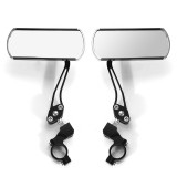 Pair 360 Rotate Rearview Mirrors Adjustable Aluminum Alloy Cycling Bike Mirror Motorcycle