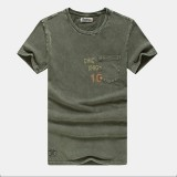 Men Cotton Solid Color Short Sleeve Crew Neck T-Shirts