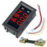 0.56″ Red+Red Dual LED Display Mini Digital Voltmeter Ammeter DC 100V 100A Panel Amp Volt Voltage Current Meter Tester