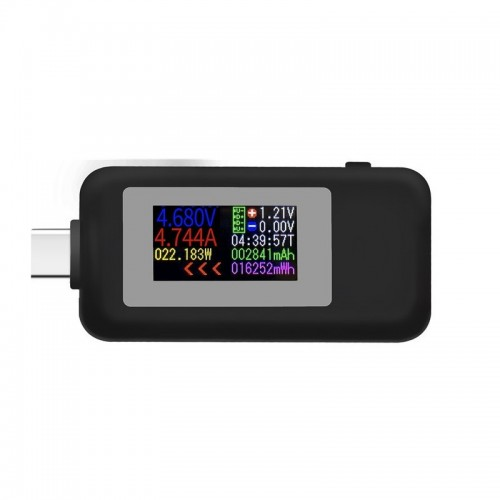 Type-C Color Display USB Tester 0-5A Current 4-30V Voltage USB Charger Tester Power Meter Mobile Battery Detector