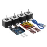 TWO TREES CNC Shield + UNO R3 Board +4x A4988 Stepper Motor Driver +4x 4401 Stepper Motor Kit for 3D Printer