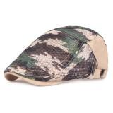 Summer Mesh Beret Caps Camouflage Forward Caps Outdoor Travel Hats Plaid Retro Hat