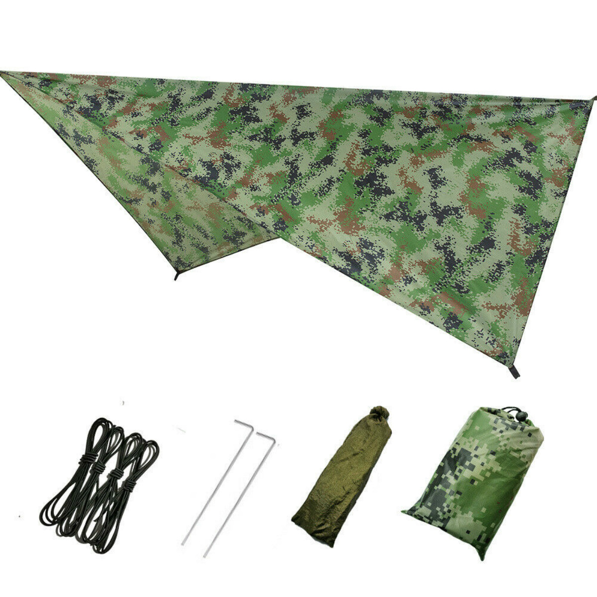 Waterproof Large Camping Tent Tarp Shelter Hammock Cover Lightweight Rain Shelter