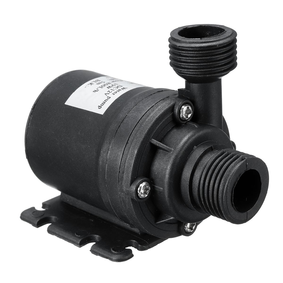 DC 12V/24V 800L/H Submersible Water Pump 5M Solar Brushless Motor Water Circulation Pump