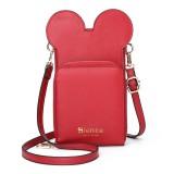 Brenice Women Cute Animal Phone Bag Multi-Slot Solid Crossbody Bag