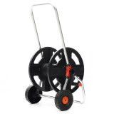 Garden Hose Cart 2 Wheel Garden Hose Reel Cart Holds 1/2 Inch 45m Hose Winding Tool Pipe Storage Cart