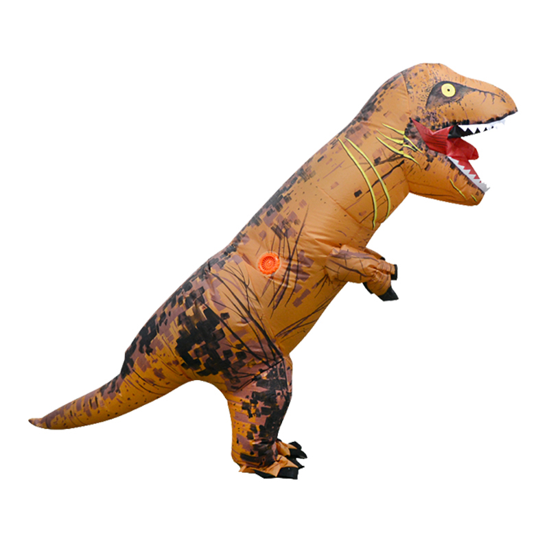 Up to 2.2m Inflatable Toys Dinosaur Halloween Costume Clothing Adult Party Fancy Animal Clothing With Fan