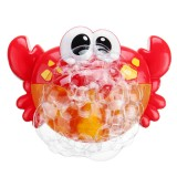 Adorable Crab Bubble Machine Music Bubble Maker Bath Baby Bath Shower Fun Red Plastic Toys