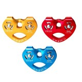 25KN Outdoor Double Axis Double Pulley Rock Climbing Aerial Work Emergency Rescue Belay