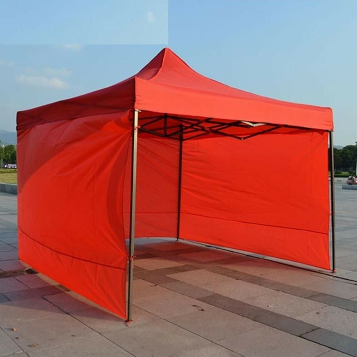 3x3m 3 Side Walls Tent Canopy Camping Travel Picnic Portable Gazebo Sunshade Cover