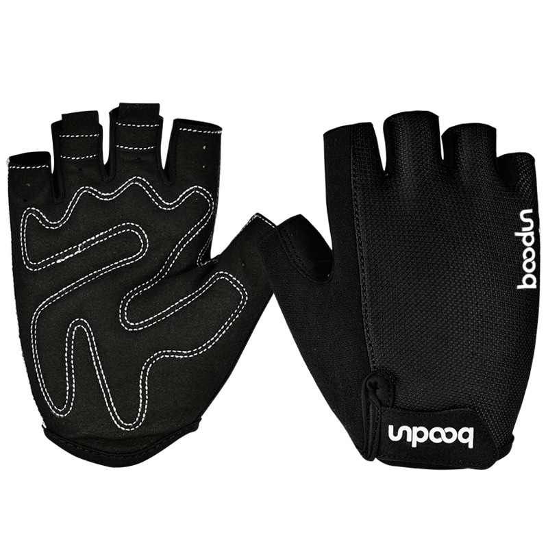 BOODUN Half-Finger Riding Glove Dumbbell Fitness Gloves Outdoor Motorcycle Riding Cycling Protective Finger Gloves
