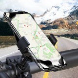 Floveme Bike Bicycle Handlebar Clamp Phone Holder 360 Rotation For 4.0-6.8 Inch Smart Phone