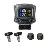 CAREUD Real Time Tire Pressure Monitor System Waterproof Motorcycle TPMS Wireless LCD Display Internal/External
