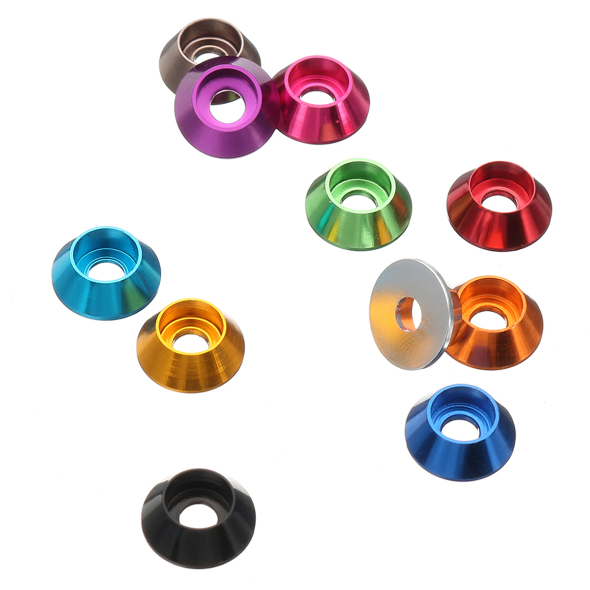 Cup Head Hex Screw Gasket Washer Nuts Aluminum Alloy M2 M2.5 M3 M4 Multicolor