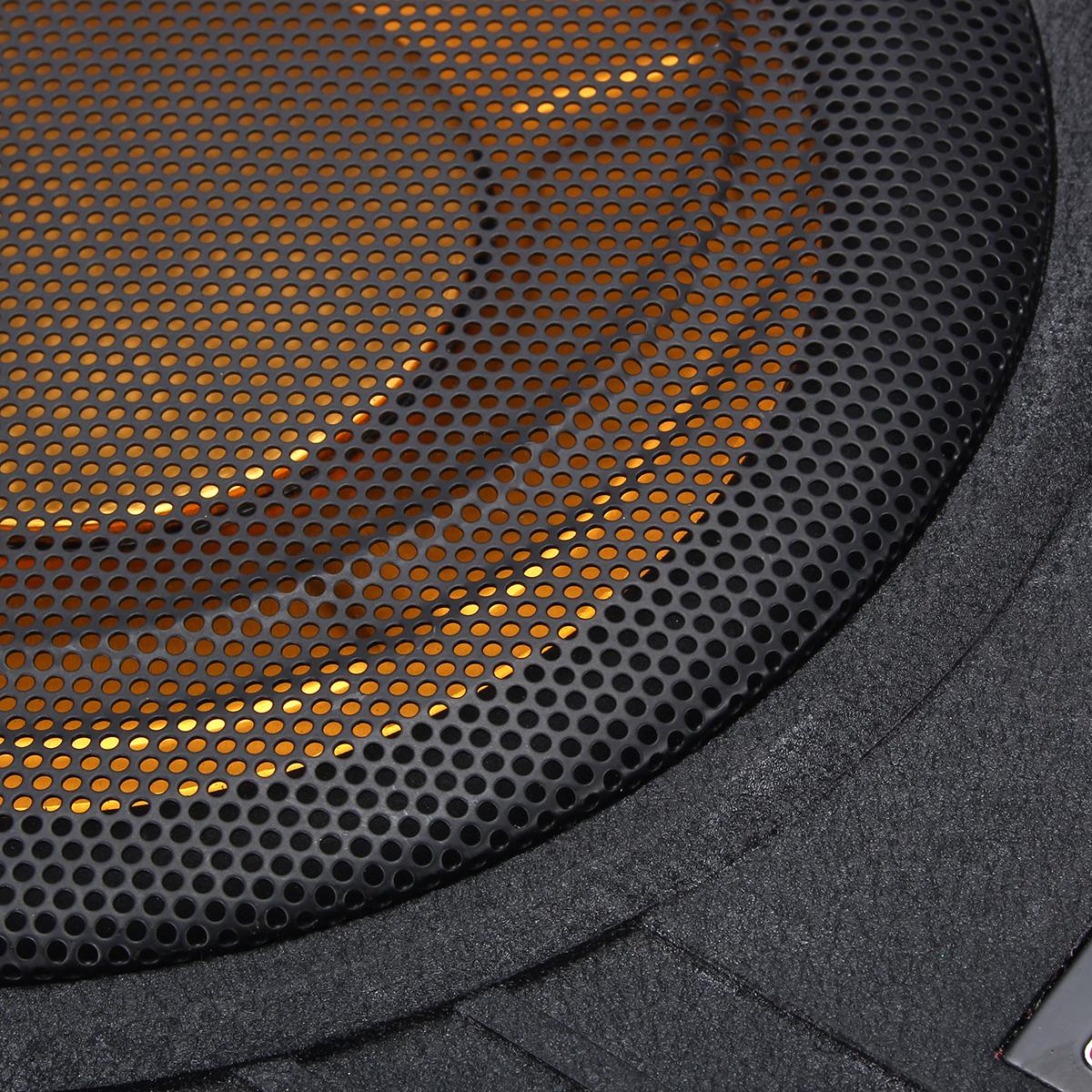 600W 10 Inch 12V Car Under Seat Active Amplifier Subwoofer Slim Speaker Amplifier with Remove Control Car Speaker