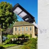 40W 80 LED Solar Powered Wall Street Light PIR Motion Sensor Outdoor Flood Lamp