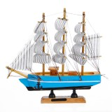 10 LEDs Wood Sailing Boats Ship Model Wooden Craft Sailor Handcrafted Boat Home Decoration